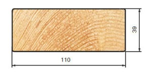lame lisse 110x39 mélèze de sibérie